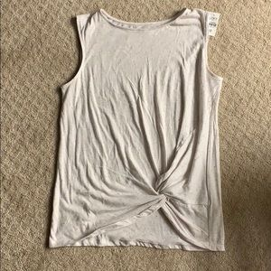 Brand new: speckled tank with side tie